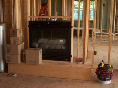 New Home Fireplace Gas Line Install